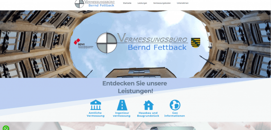 Vermessungsbüro Bernd Fettback | Webdesign Dresden
